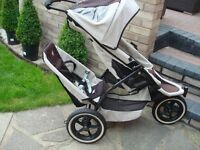 Phil and Teds Single or Double Twin Buggy Pushchair Stroller