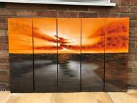 Sunset Painting - 5 Parts
