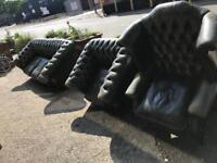 Today only three piece green chesterfield set
