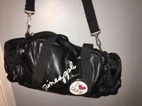Pineapple black leather dance bag