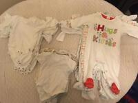 Bundle of 40 unisex baby clothes 0-3 months!