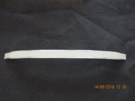 Chrome handles with beige inlay