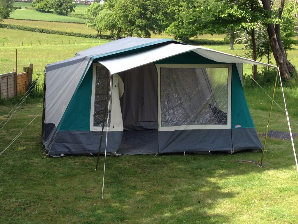 Cabanon athena 6k berth canvas family frame tent in ryde for How to build a canvas tent frame