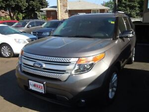 2013 FORD EXPLORER XLT 4X4 - 6 PASSENGER, LEATHER HEATED SEATS,