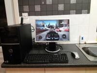 👀PC DELL FULL SETUP INTEL CORE2DUO 3.166GHZ X2 ATI HD 3450 GPU 570GB HDD 3GB RAM👀