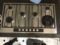 AEG built in gas stove top/ hob with cooker hood