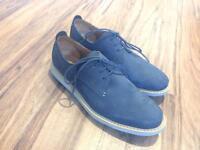Blue suede/ Nubuck Clarks size 9.5
