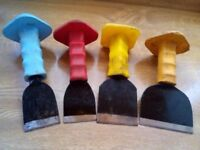 chisels x 4 bolster assorted sizes