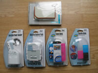 20 pence each, fiver the lot! 28 acessories for Ipod by Belkin and Maxell. Must be sold!