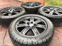 "Genuine 19"" Land Rover Range Discovery Alloy Wheels & GT Grabber Tyres - VW T5"