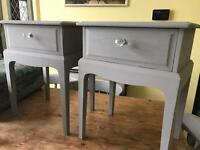 Up Cycled Vintage Stag Two Bedside Tables/Side Tables
