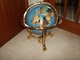 Large Precious Jewels, World Globe, Really Good Condition