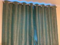 Teal Eyelet Curtains