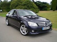 Mercedes-Benz C Class 2.1 C220 CDI BlueEFFICIENCY SPORT 4dr AUTOMATIC/ FULL SERVICE HISTORY/PAN/ROOF