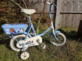 Childs Raleigh Bluebird Single Speed Bicycle with Stabilizers