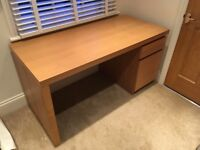 IKEA Malm Oak Veneer Desk RRP £115 - Great Condition!!!