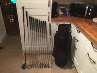 Golf clubs -Driver, Taylormade 3 Wood, full set Of matching Irons (3-SW)with putter-bag-gloves-balls