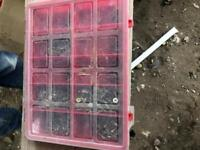 Small screws in carry box
