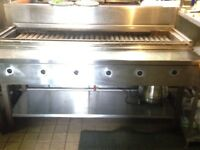 6 BURNER GAS KEBAB GRILL with stand