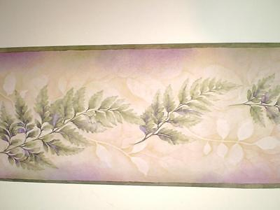 Green & Purple Multi-Color Fern Leaves Border by Chesapeake  -