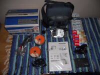 PANASONIC DVD VIDEO CAMERA 30 X OPTICAL ZOOM HARDLY USED WITH LOADS OF EXTRAS