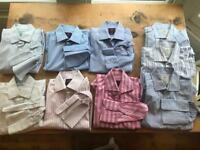 Men's work shirts x9 size 16''collar/M/ 40-42'' Slim Fit. Hawes&Curtis/C. Tyrwhitt