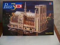 3D Puzzle of Notre Dame Cathedral, Paris. 952 pieces, all complete.