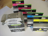 Lexmark 105XL and 100XL Printer Ink cartridges, black + colours