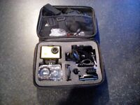 12mp HD Action camera with case, harness and acessories