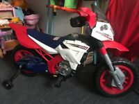 Kids electric mortar bike ride on