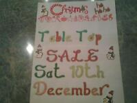 Christmas Table Top Sale...Sat 10th December. .St . Catherine's Hall, Christchurch, bh23 2rr