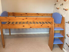 Childrens Stompa Mid Sleeper Bed with 2 Cupboards