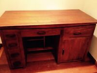 Solid wood mahogany desk