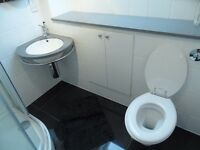 White Bathroom Suite - Toilet, Chrome Radiator, Shower Tray (Good Condition) £50 OBO