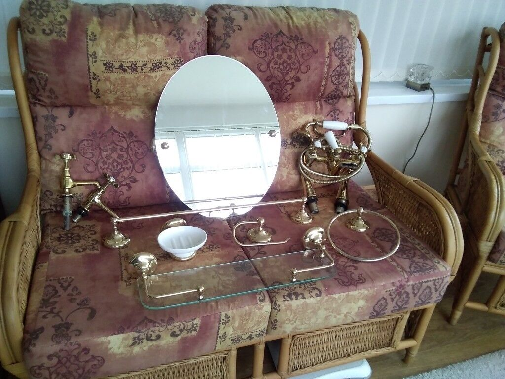 Gold coloured Bathroom Accessories and Taps | in Houghton Le Spring on gold hair accessories, gold home accessories, gold bathroom fixtures, gold wedding accessories, gold toilets, gold bathroom design, gold bathroom art, gold painted bathrooms, gold bathroom faucets,