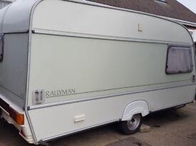 ABI Rallyman 2 Berth Caravan 1989 Good Condition With Accessories