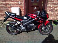 2009 Honda CBR 125 RW motorcycle, new 12 months MOT, new Sports exhaust, excellent runner, ride away