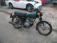 HONDA CB125S 1975 BARN FIND PROJECT WITH V5C CAN DELIVER