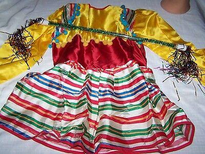 Spanisches Tanzkleid mit Drehstange für 4 - 5 Jahre (Spanisch Kostüme Für Tanz)