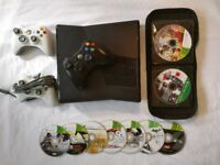 Xbox 360 S 250GB (Black) With 3 Controllers and 30+ Games