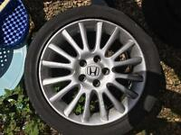 "Honda Civic 17"" alloy wheels and tyres"