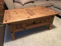 Coffee table with couch side unit