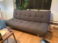 Habitat Kota 3 Seater Fabric Sofa Bed - Charcoal