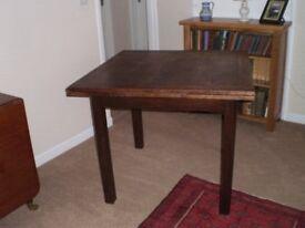 oak extending dining room table.