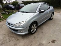 53 Plate Peugeot 206 convertible. Winter bargain Just £395. MOT Jan 18. Any test or trial,
