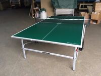 Green Kettler Stockholm GT Outdoor Table Tennis Table (assembled, excellent condition)