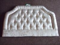 SUPERB BEIGE PADDED HEADBOARD FOR A SINGLE BED NEW/UNUSED. FLORAL DESIGN.