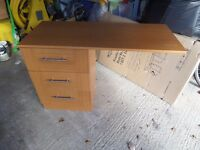 Small office desk wooden designed to fit against wall. Good condition .