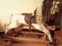 Dapple grey rocking horse