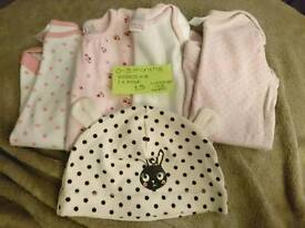 0-3 Month vests and hat